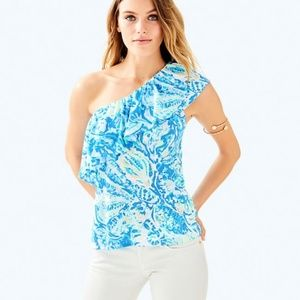 NEW Lilly Pulitzer One Shoulder Matteo Top